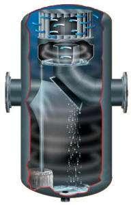 Internal view of a type R high volume gas liquid separator