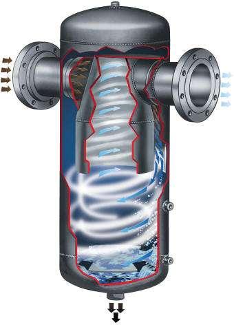 Centrifugal steam separator